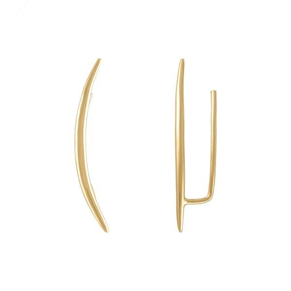 Whisper Ear Climbers in Gold Vermeil