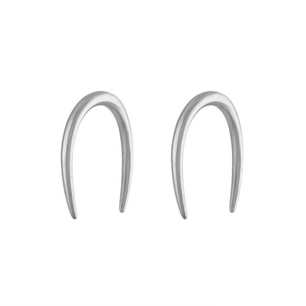 Whisper Open Hoop Earrings in Sterling Silver