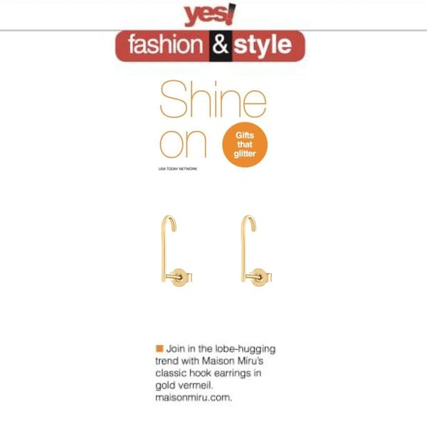 Our Classic Hook Earrings as seen in Yes! Magazine!