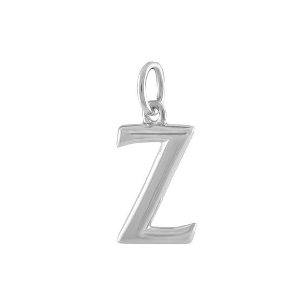 """Z"" Charm in Sterling Silver"