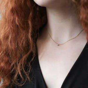 Zelda Necklace in Sterling Silver on model