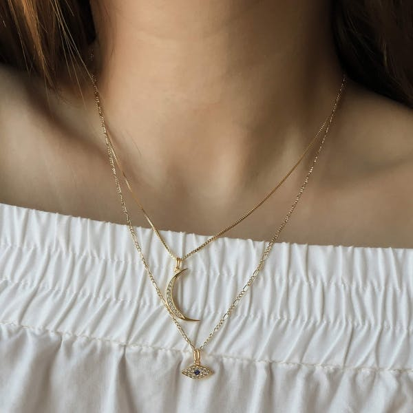 Architect Necklace on model