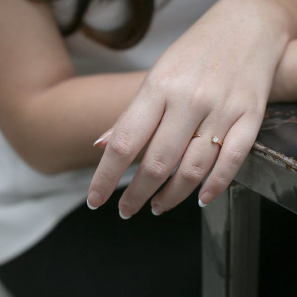Callie Ring in Gold on model