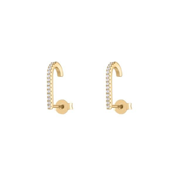Celestial Hook Earrings in Gold Vermeil