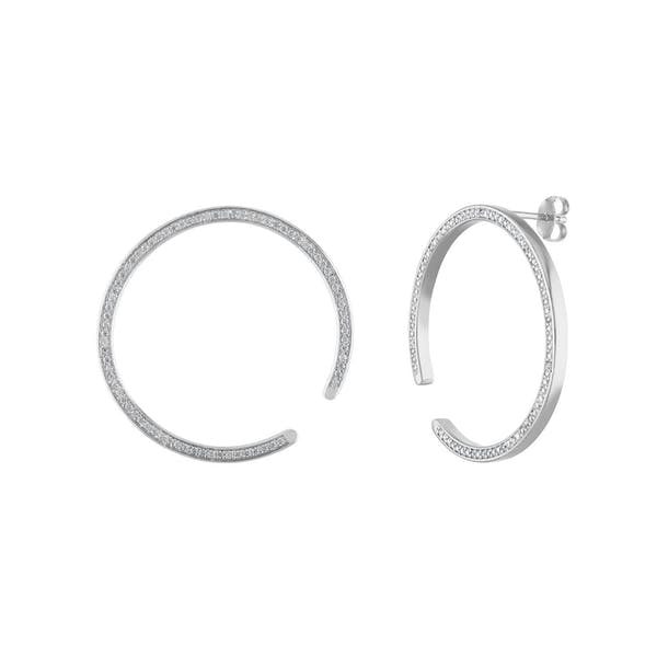 Celestial Illusion Hoops in Sterling Silver