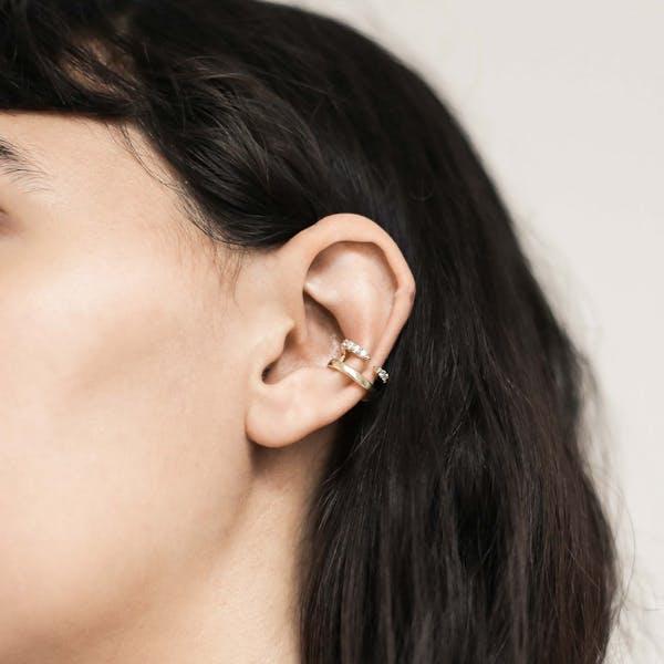 Crystal Claw Ear Cuff on model