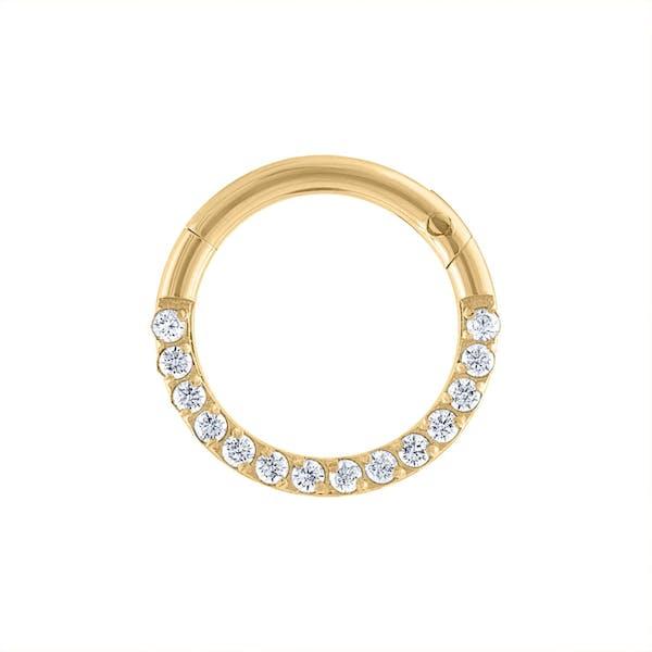 Cosmic Cartilage Hoop in Gold