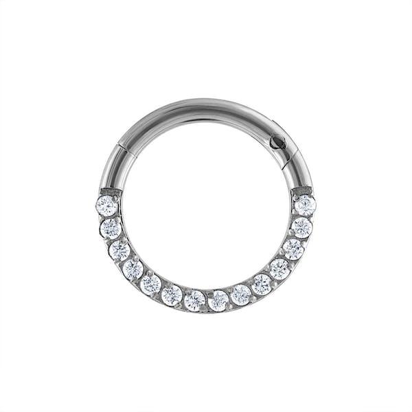 Cosmic Cartilage Hoop in Silver