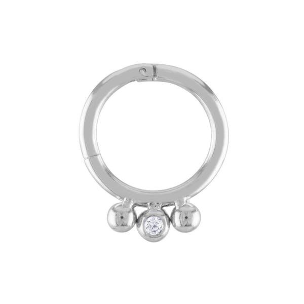 Dreamer Cartilage Hoop in Silver