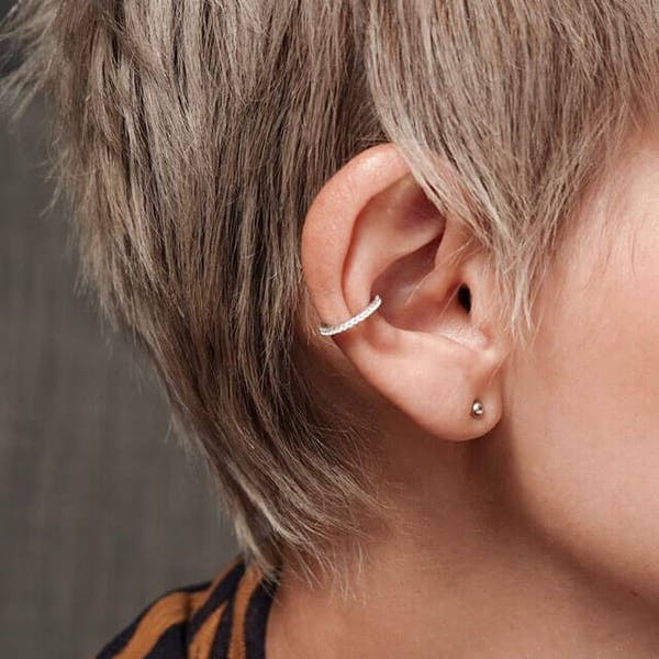 Eternity Arc Ear Cuff in Sterling Silver