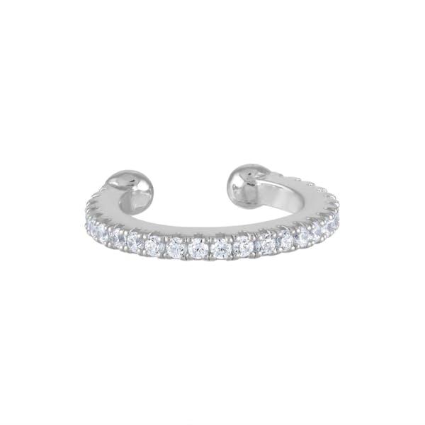 Eternity Arc Ear Cuff in Sterling Silver (13mm)