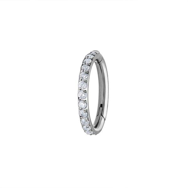 Eternity Cartilage Hoop in Silver