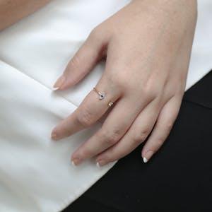 Evil Eye Ring on model
