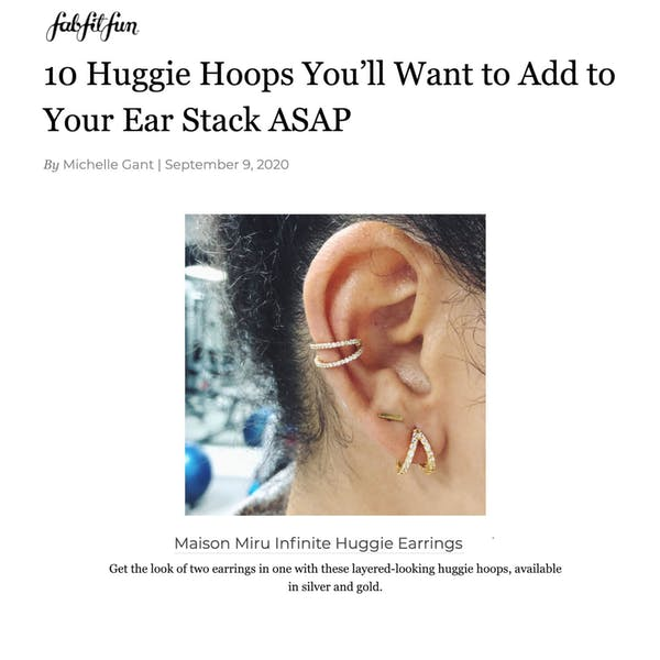Infinite Huggie Earrings as seen on FabFitFun