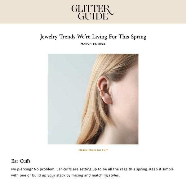 Classic Chain Ear Cuff as seen on Glitter Guide