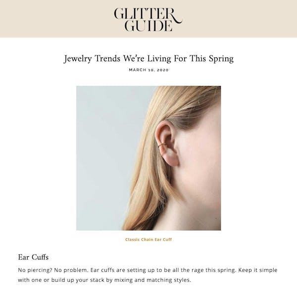 Classic Chain Ear Cuff as seen on Glitter Guide