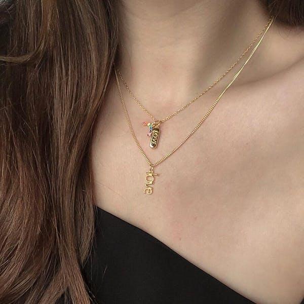 Modernist Necklace on model