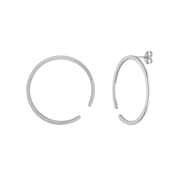 Illusion Hoops in Sterling Silver