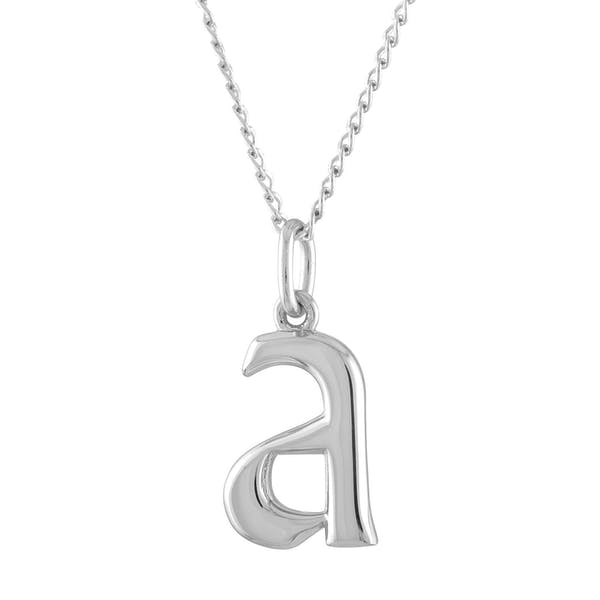 Initial Charm Necklace in Sterling Silver