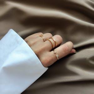 Juliet Ring in Gold on model