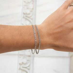 Rebel Bracelet in Silver on model
