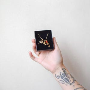 Mini Pave Lightning Charm in Gold Vermeil in Jewelry Box