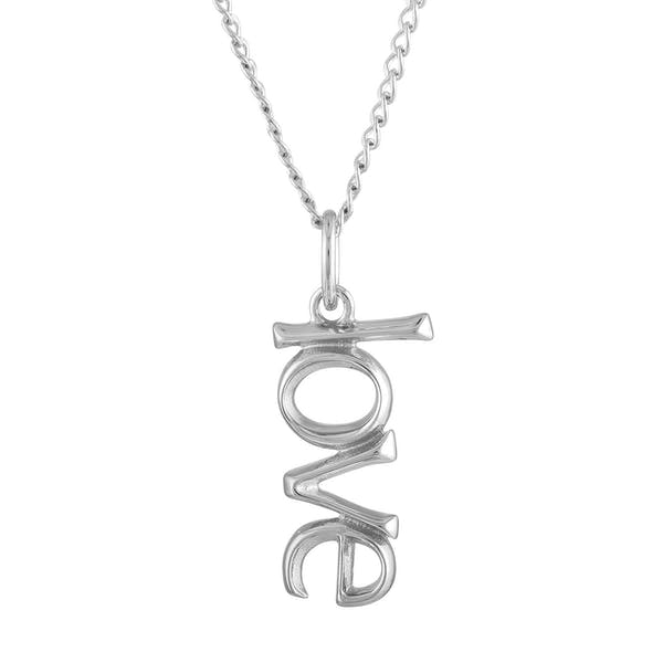 Love Charm Necklace in Sterling Silver