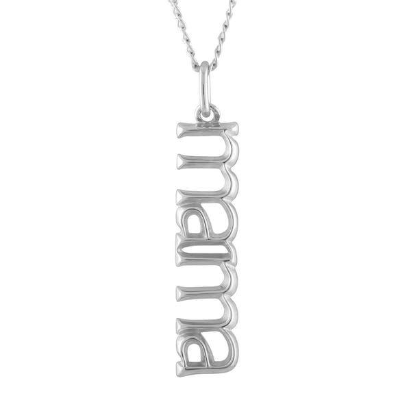 Mama Charm Necklace in Sterling Silver