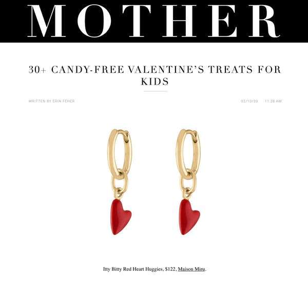 Itty Bitty Red Heart Huggies as seen on Mother Mag