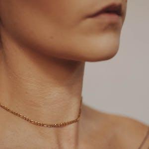 Poet Necklace on model