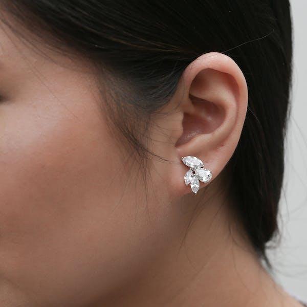 Poppy Earrings on model