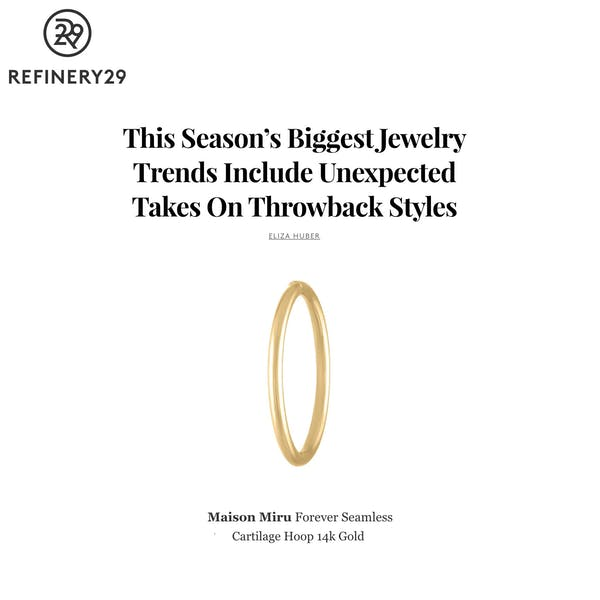 Our Forever Seamless Hoop as seen on Refinery 29