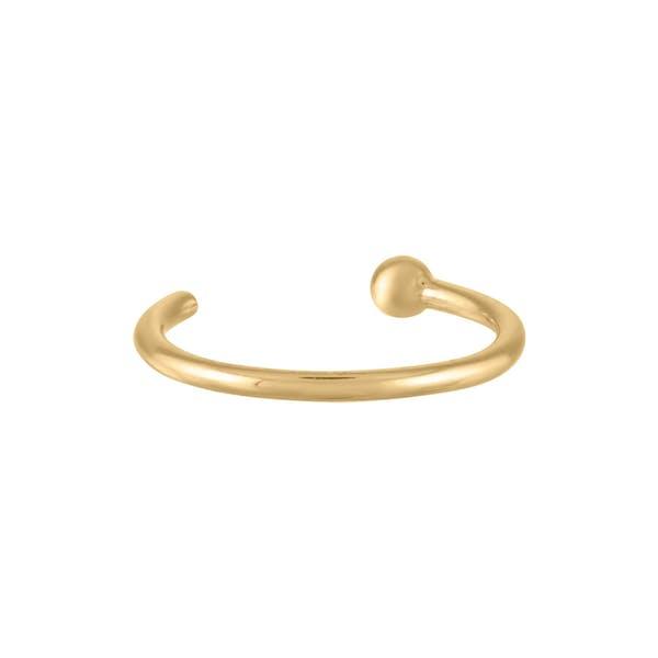 Tiny Secret Nose Hoop Ring in 14k Gold (8mm)