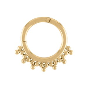 Siren Cartilage Hoop in Gold
