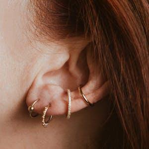 Orbital Cartilage Hoop in Gold on model