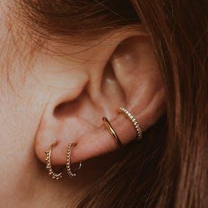 Goddess Cartilage Hoop in Gold on model