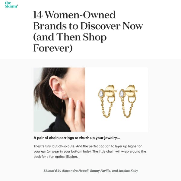 Our Colette Earrings as seen on theSkimm