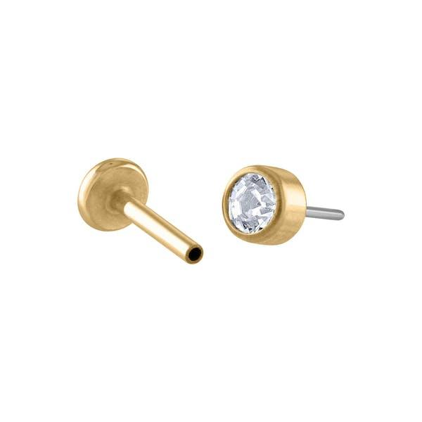 Tiny Crystal Push Pin Flat Back Earring